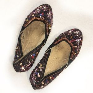 .Tribeca by Kenneth Cole Jade Sequin Black Flats 6